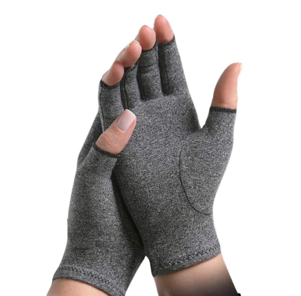 Arthritis Compression Gloves Relieve Pain from Rheumatoid, Carpal Tunnel, Hand Gloves Fingerless for Computer Typing and Dailywork(2 Pairs),M