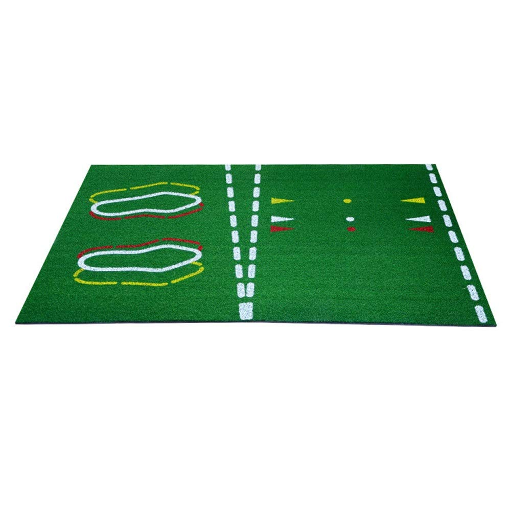 ゴルフ指導練習マット屋内と屋外のマットポータブルアウトドアスポーツゴルフトレーニング打つ芝マットホーム裏庭 (色 : 緑, サイズ : 26*36cm) 26*36cm 緑 B07RSPBWR5