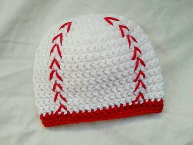 Amazoncom Crochet Baby Hat Baseball Photo Prop Newborn Photo