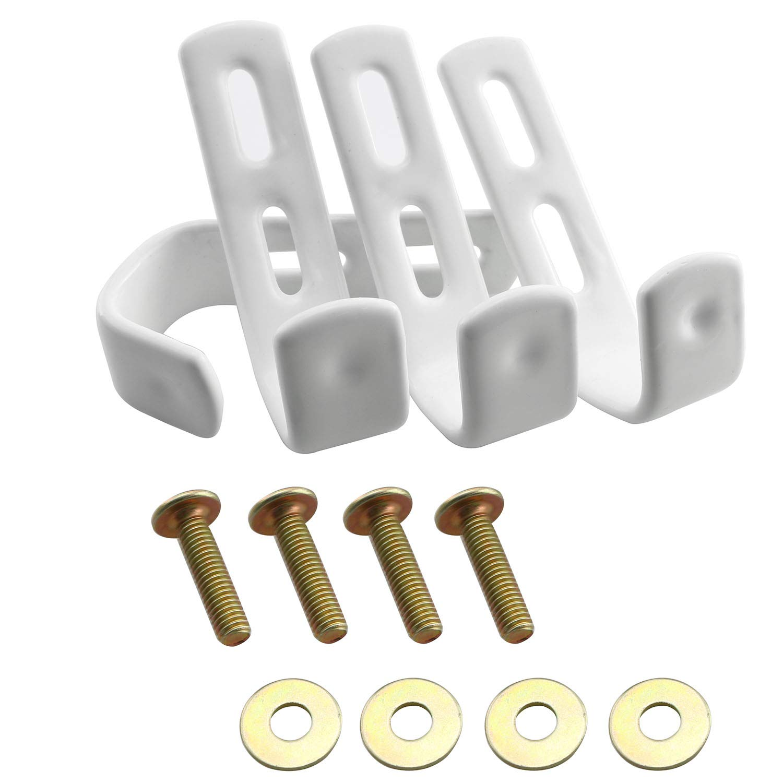 PSCCO 4PCS White Utility Bunk Bed Ladder Hooks Bedroom Ladder Hook Accessories