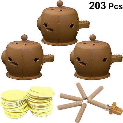 Healifty 3 Set Caja de Curación de Bambú Dispositivo de Masaje de Punto de Acupuntura Moxibustión Herramienta para Terapia de Medicina Moxibustión Moxa: Amazon.es: Belleza