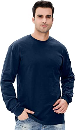 COSAVORCOK Camisetas para Hombre Manga Larga Gruesa 100% Algodón ...