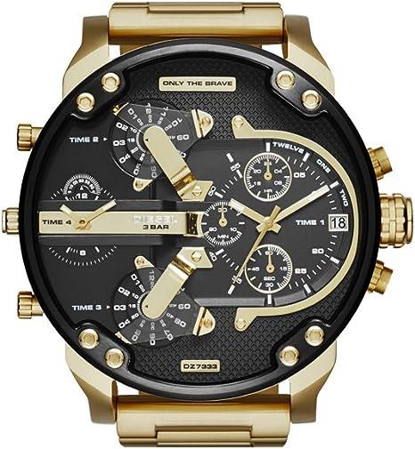 Relógio Masculino Diesel Dz7333/4pn Dourado