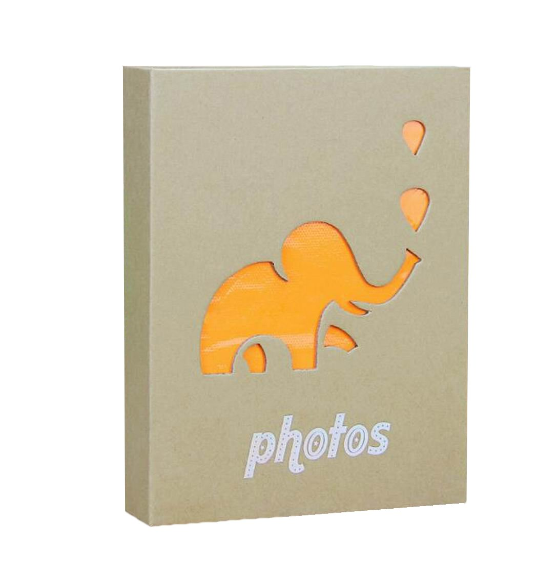 Wei Long Kraft Photo Album Hold 100 Pockets, 5''x7'' Photos, (Elephant) by Wei Long