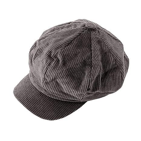 WJBZLN Simplee Corduroy Boina Sombreros de Gorra Plana para Mujer ...