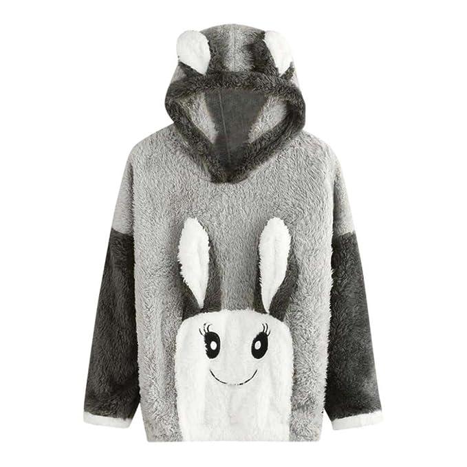 Mujer Sudadera con Capucha de Conejo, Franela de Manga Larga Jersey Tops Blusa por Morwind: Amazon.es: Ropa y accesorios