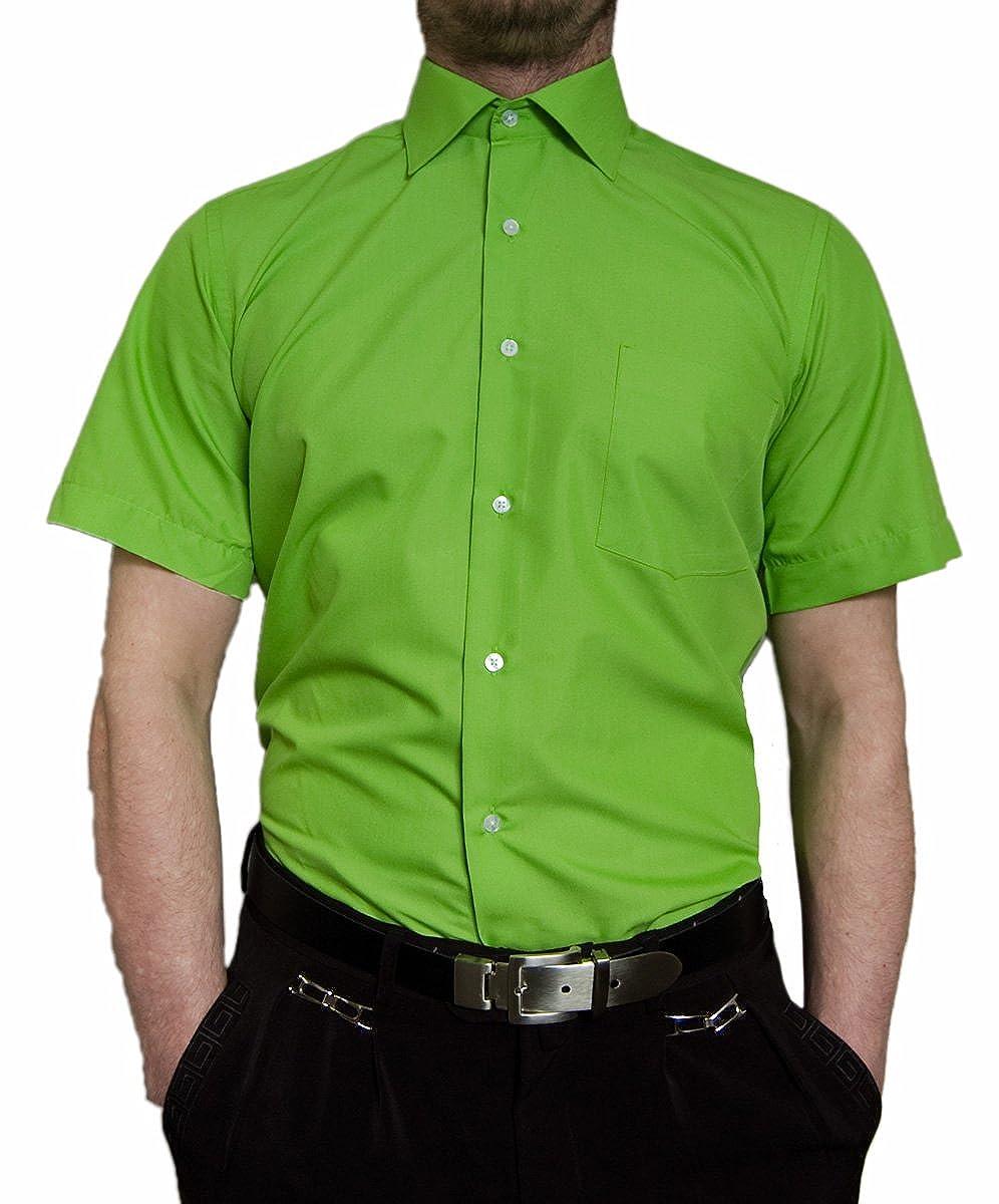 Tonelli Designer Herren Kurz Arm Hemd Bügelfrei klassischer Kragen Herrenhemd Kentkragen viele Farben Kurzarm