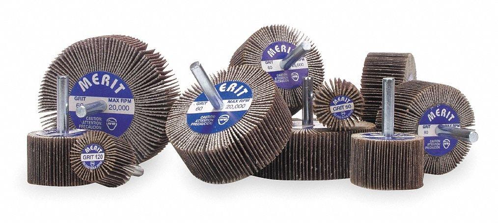 Coated Aluminum Oxide Mounted Flap Wheel Test Kit, Various