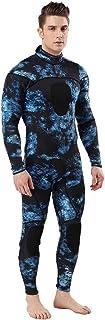 Sunnywill Combinaison Plongée Homme Manches Longues Combinaison Néoprène Surf Snorkeling Natation Plongée Mer Eau