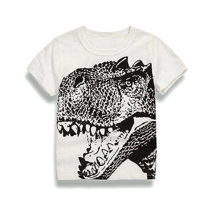 9a29febccc871 ♔Homebaby♔T-Shirt Garçon Garçons enfants T-shirt Manches Courtes Tops Col
