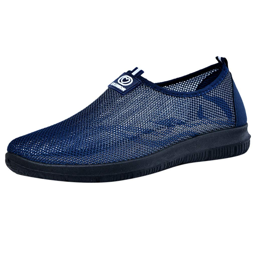 Men Ultralight Mesh Shoes Summer Breathable Outdoor Sport Running Casual Male Slip-on Sneakers