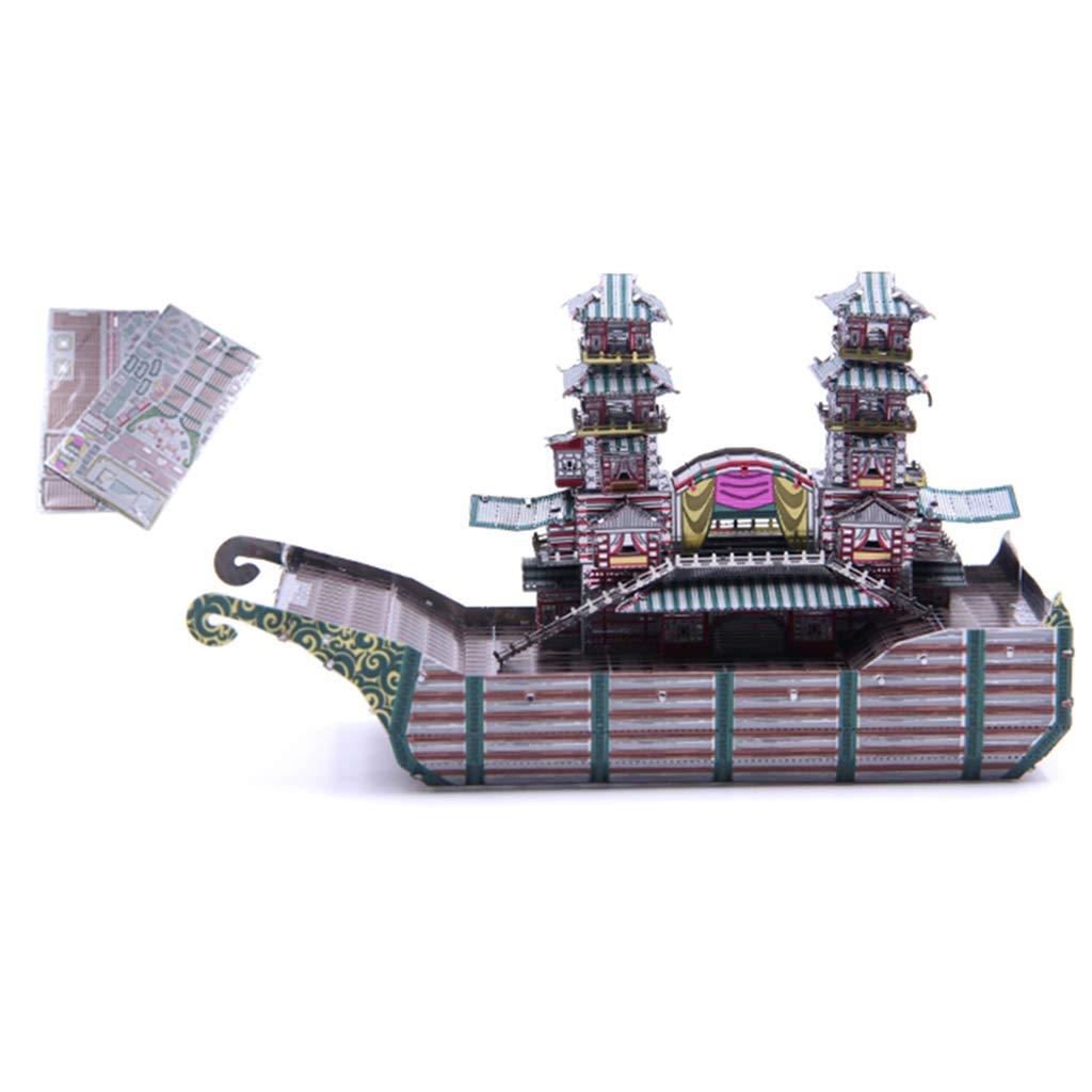 Homyl Juguete de Rompecabezas de Metal 3D Construcción Arquitectónica Ornamento de Hogar Oficina - barcaza Plata(66pcs,13,8x5,5x8,3cm): Amazon.es: Juguetes ...