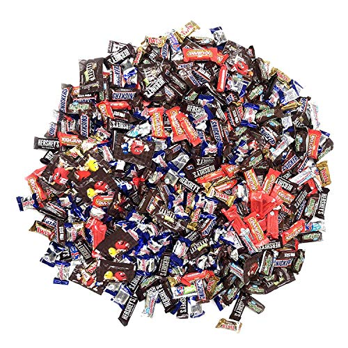 Assorted Bulk Chocolate, Individually Wrapped: 5 LB Bag Variety Pack with M&M, Musketeers, Milky Way, Twix, Snickers, Hershey's Milk Chocolate, Baby Ruth,100 Grand- Great For Holiday & Party ()