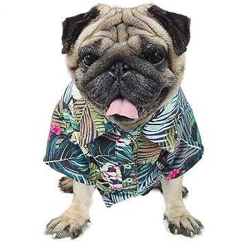Amazon.com: LAMONDE Camisa hawaiana para perro, ropa de ...