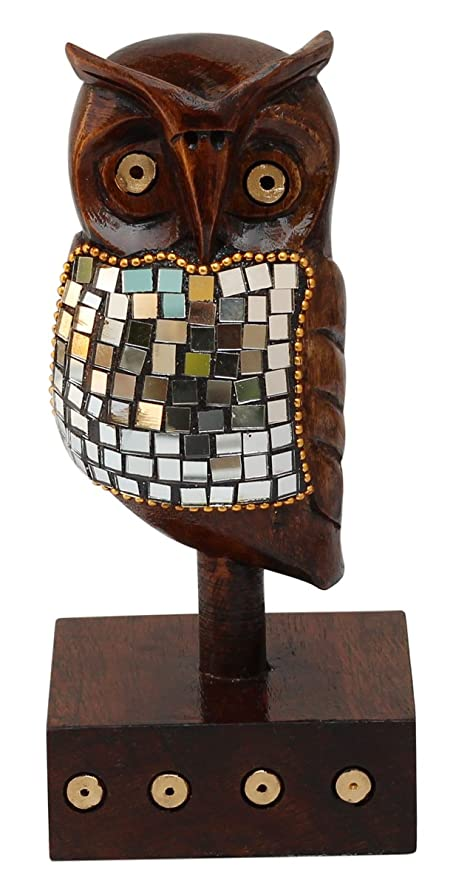 12 DAYS Of DEALS 2017   SouvNear Owl Statue   Mirror Work U0026 Beaded Animal  Figurine