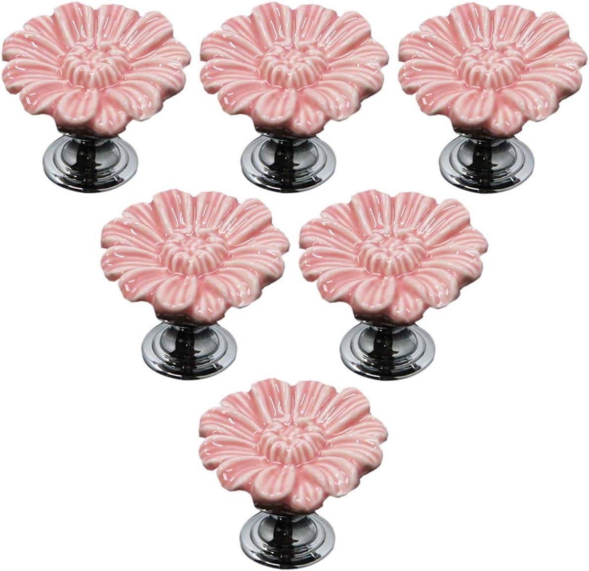 Flower Glass Cabochons Knobsillustration Cabinet Dresser Knobs pullDresser KnobsCabinet Pull handles Cabinet Knobs Furniture Hardware