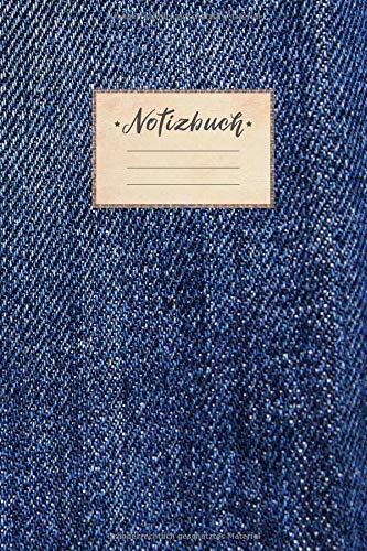 Notizbuch: DIN A5 Format, 100 linierte Seiten, glänzendes Softcover-Design, weißes Papier | Notizheft - Tagebuch - Journal - Planer | Cover: Jeans Denim Muster Verlauf Cool Mode (German Edition) (Denim Schwarz)
