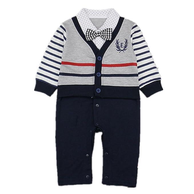 69b1ebf6de8e Amazon.com  Beide Baby Boys Long Sleeve One Piece Romper Suit  Clothing