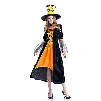 ホッミコッゼ(Homeycozy)ハロウィン衣装 ハロウィーン仮装 巫女 魔女 ハロウィン用品 コスプレ衣装 大人用 レディース ロングドレス 公演服  3点セット オレンジ