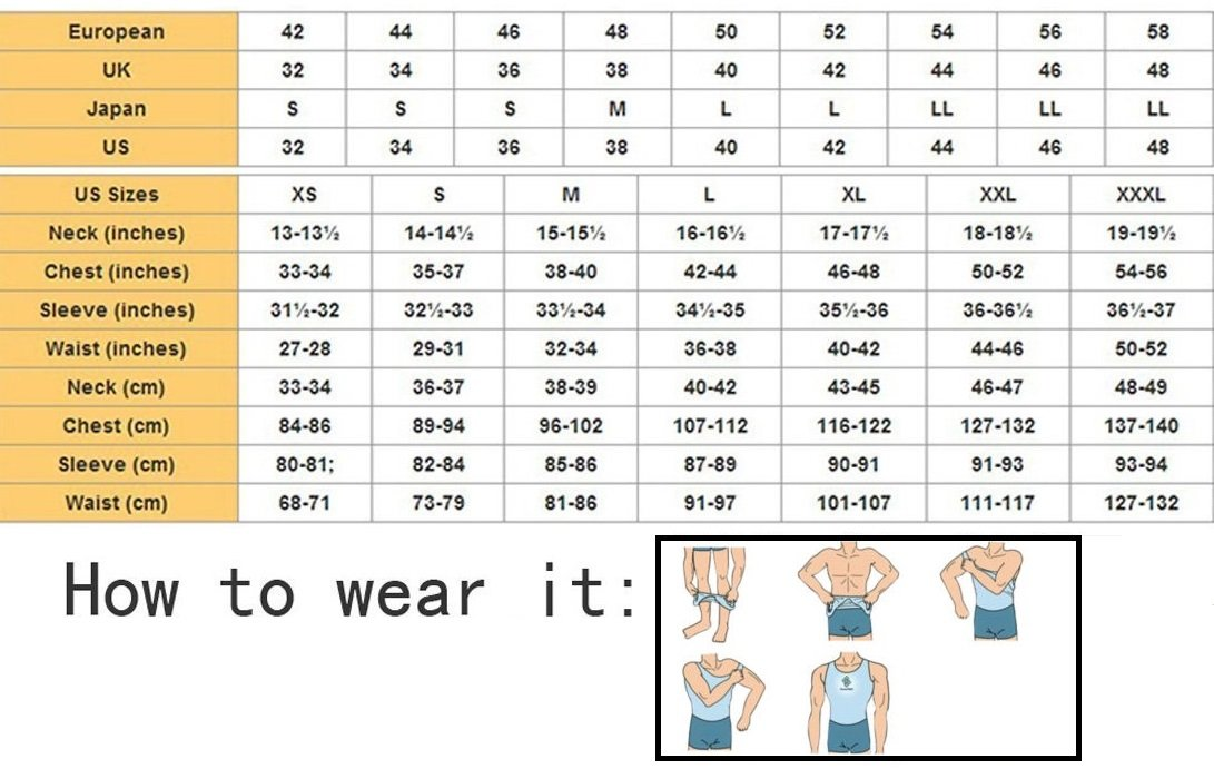 Abs Abdomen Slim Compression Tank Vest Shapewear S to XXL White//Black Mens Slim Body Shaper Compression Elastic Undershirt 1 pc RFID Block Sleeve