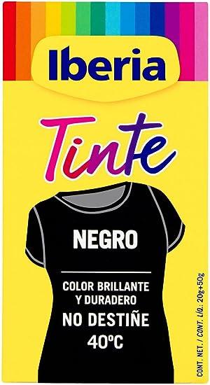 Iberia - Tinte Negro para ropa, 40°C: Amazon.es: Belleza