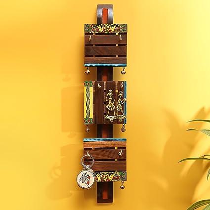 ExclusiveLane \'Brass, Wood & Colours\' Madhubani Hand-Painted Dhokra ...