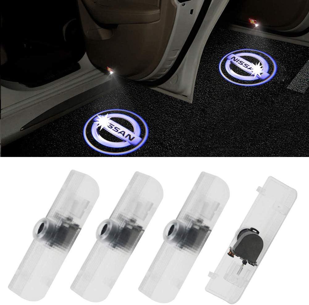 Grolish Easy Installation Car Door LED Lighting Logo Projector Welcome Light For Nissan Altima/Armada/Maxima/Quest/Titan(4-Pack)