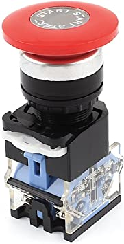 10 A Rot Pilzform,Notausschalter Not-Aus-Knopf mit Kunststoffgehäuse AC 660 V