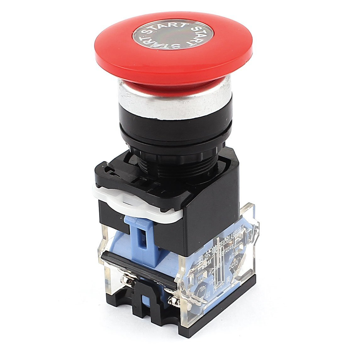 AC 660V 10A DPST Red Rotary darr/êt durgence verrouillable Push Button Switch