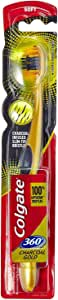 Colgate Toothbrush 360 Degree Charcoal Gold Soft Bristles
