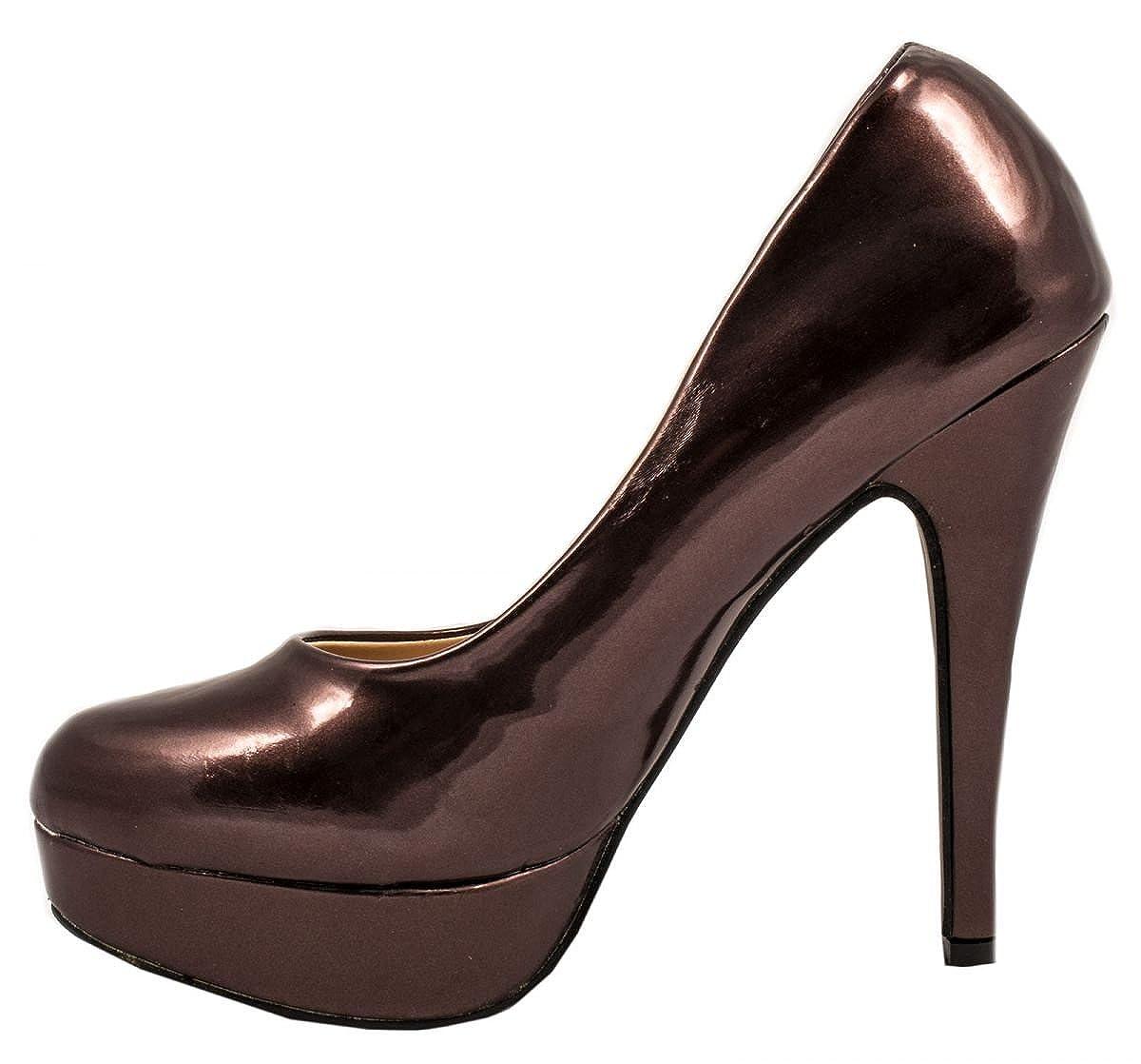 Elara Plateau Pumps Damen High Heels Stiletto Chunkyrayan