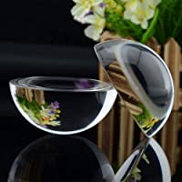 Retro bola semi-cristalina 80mm vidrio de cristal fotográfico