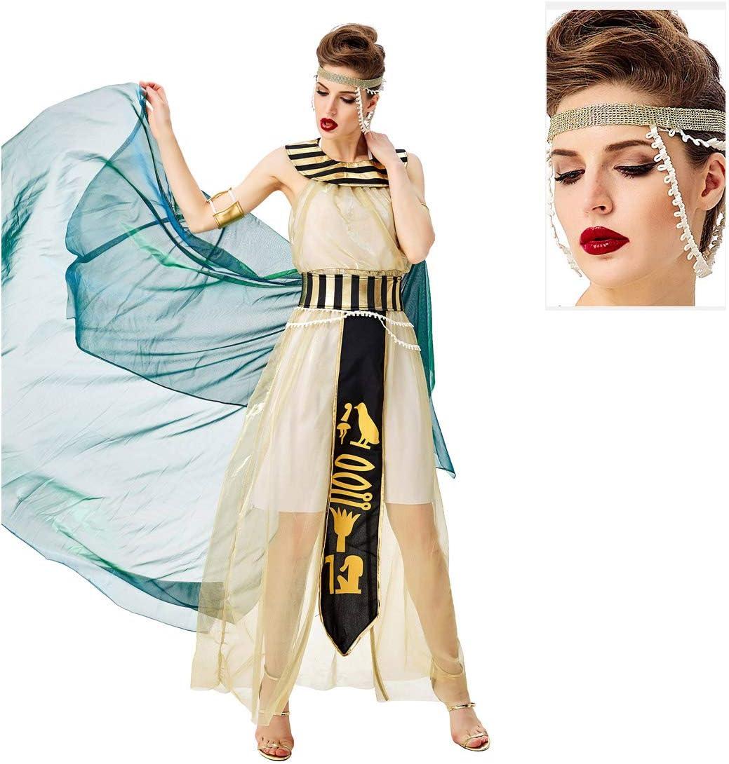 JIANG BREEZE Vestido del Traje de Cleopatra Adulto Mujeres Santos ...