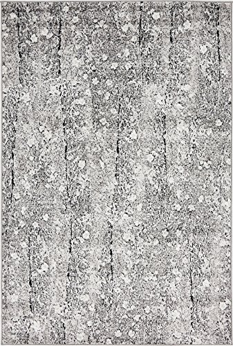 - Unique Loom Metro Collection Vintage Floral Abstract Vines Dark Gray Area Rug (4' 0 x 6' 0)