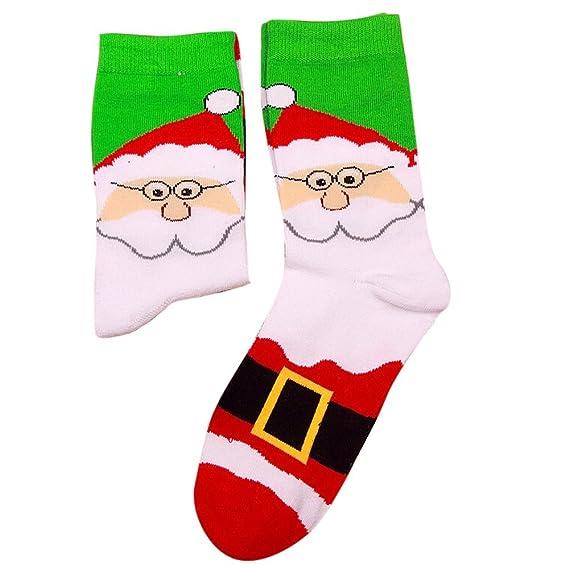 Kinlene Mujeres y hombres de Navidad cómodos raya algodón calcetín corto tobillo calcetín: Amazon.es: Ropa y accesorios