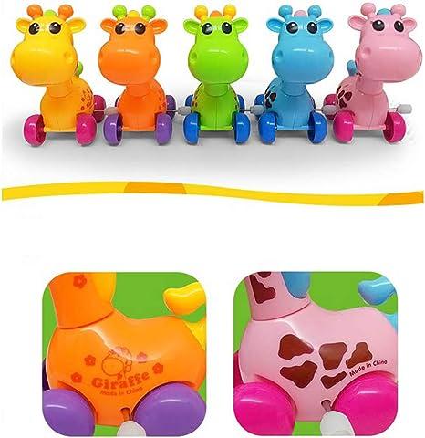 1pc de relojería Deer juguete cuerda a un juguete de color Operando educativos para la primera Kids regalo de los niños juguetes de plástico aleatoria de dibujos animados de animales ciervos de