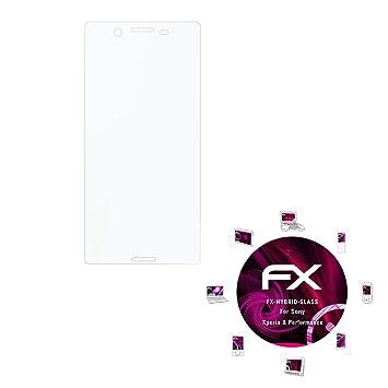 atFoliX Lámina Protectora de plástico Cristal Compatible con ...