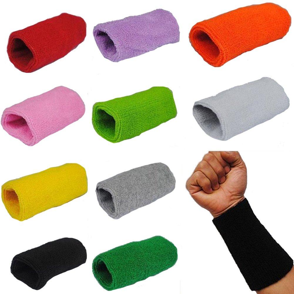 douleway Muñequera para Deportes de Tenis, Baloncesto, Deporte, Sudor, Tenis, Squash, Bádminton (Verde) Wristbands