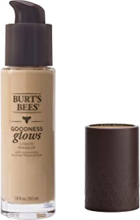 product image for Burt's Bees Goodness Glows Liquid Makeup, Linen Beige - 1.0 Ounce