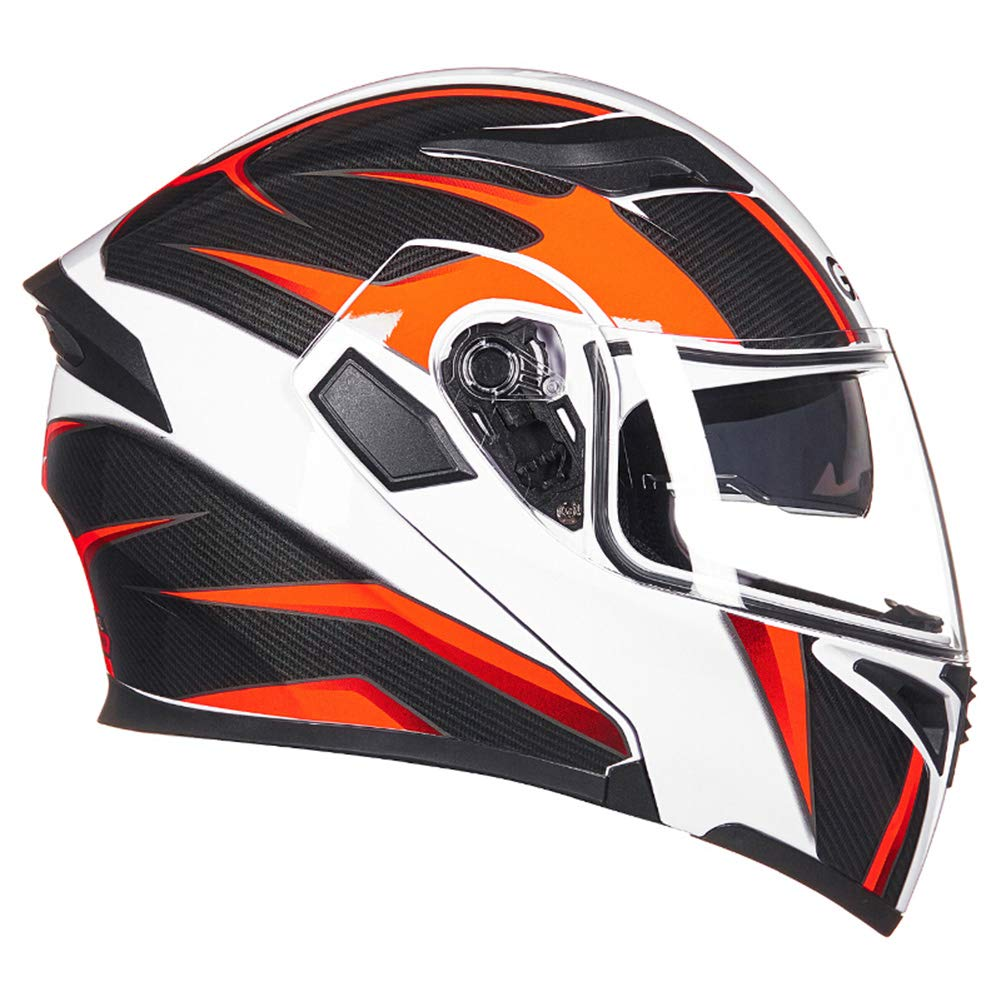 9 Colors Full Face Motorcycle Helmets Modular Flip up Dual Visor Adult Helmet Motocross