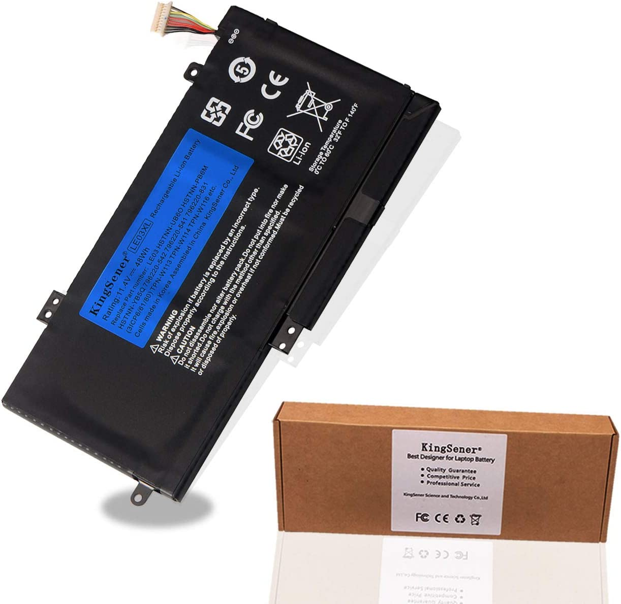 KingSener LE03XL Battery for HP LE03XL LE03 HSTNN-PB6M HSTNN-YB5Q 796356-005 for HP Envy X360 M6-W101dx W102dx W103dx W010dx, Pavilion X360 13-s000 13-s120nr 15-bk000 Laptop