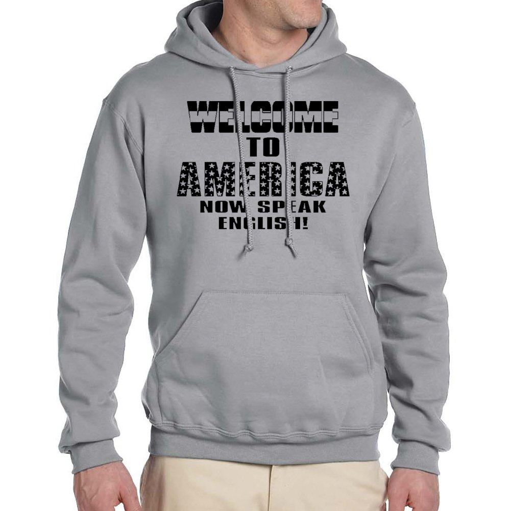 Adults WELCOME TO AMERICA.. Sport Grey Hoodie