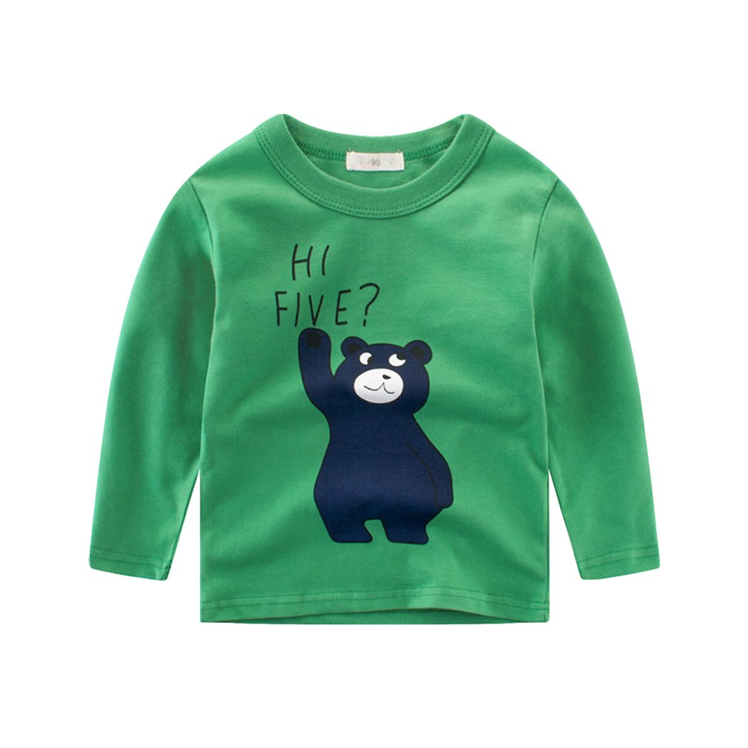 Tkria Kinder Baby Jungen Bä r T-Shirt Shirts Baumwolle Sweatshirt Unterhemd Pullover 1-5 Jahre