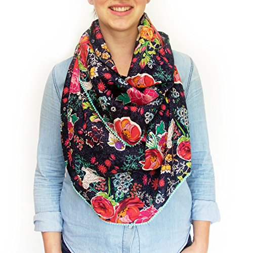 Logan + Lenora Boho Nursing Scarf - Nursing Cover for Breastfeeding - 4 Ways to Wear - Made in USA (Sunday Stroll)