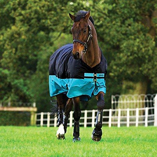 Horseware Mio Medium Turnout Blanket (81, Black/Turquoise)