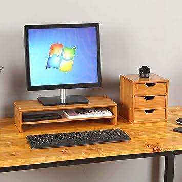 Organizador monitor Estante de escritorio de la oficina de la base ...