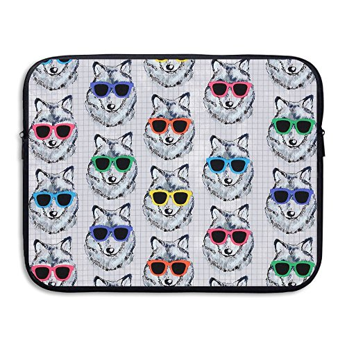 Sunglasses Wolf Water Repellent Laptop Case Bags Printed Ultrabook Briefcase Sleeve Bags Cover For Macbook Pro/Notebook/Acer/Asus/Lenovo Dell 13 - Gif Sunglasses
