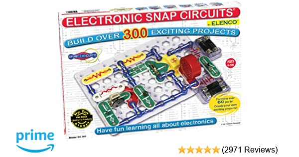 Snap Circuits Classic SC-300 Electronics Exploration Kit | Over 300  Projects | Full Color Project Manual | 60+ Snap Circuits Parts | STEM  Educational