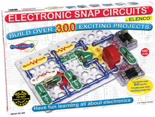 Snap Circuits Classic SC-300 Electronics Exploration Kit | Over 300 STEM Projects | 4-Color Project Manual | 60 Snap Modules | Unlimited Fun (Snap Electronics Kit)