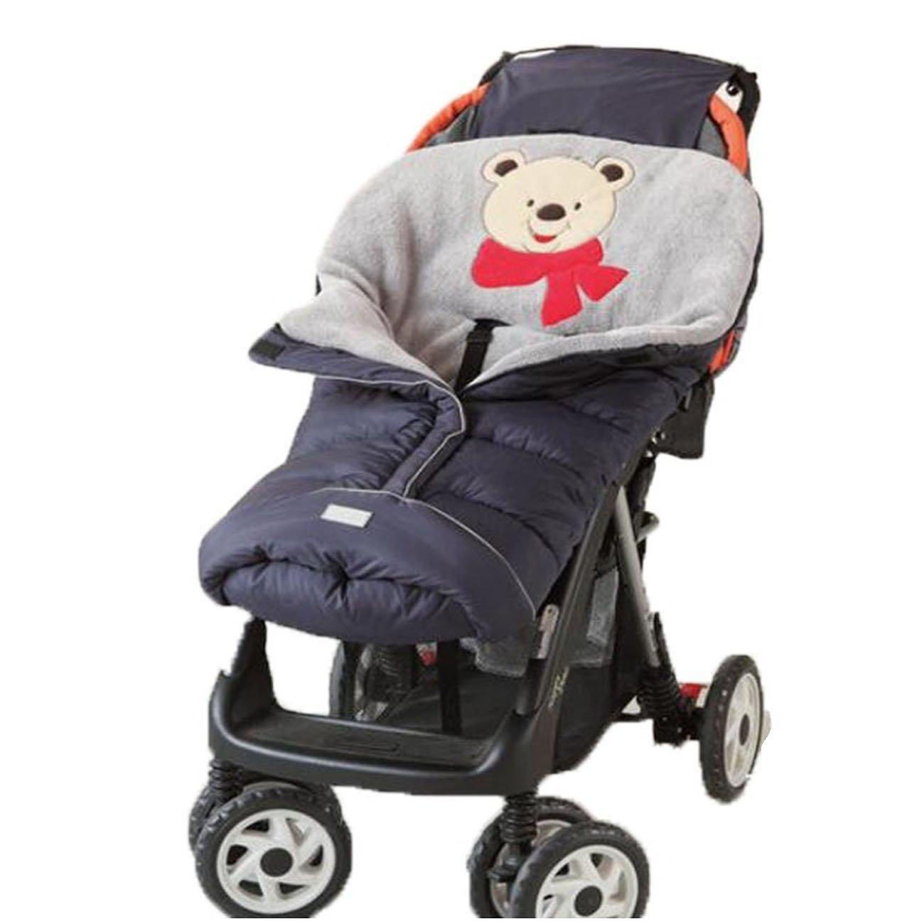 Universal Baby Stroller Sleeping Bag Footmuff Sack Winter Outdoor Waterproof Swaddling Blankets (Blue(0-6M)) cattam0110